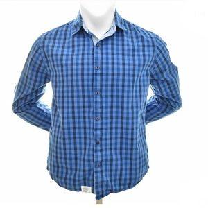 Five Four Button Up Shirt Dark Blue/Blue Men's XL